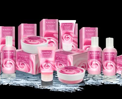 Pflegeserie Joghurt und Rosenöl