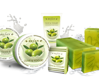 Pflegeserie Olive mit Joghurt