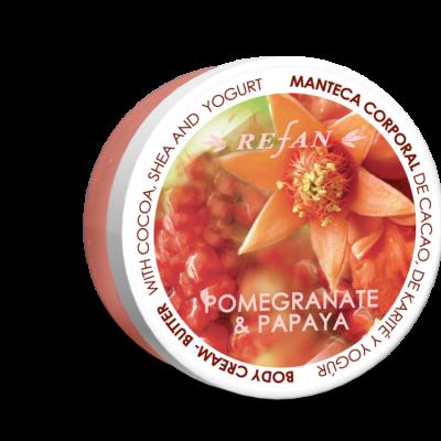 Refan Naturkosmetik Bodycremebutter Granatapfel Papaya