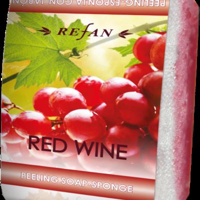 Peelingseife Rotwein