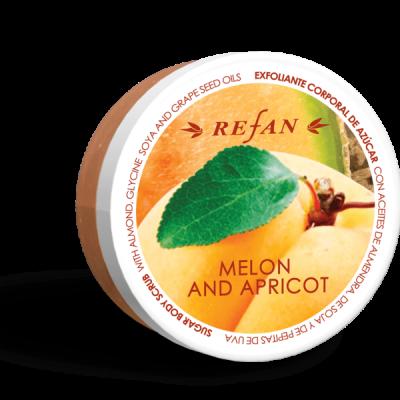 Refan Naturkosmetik Zuckerkörperpeeling Melone Aprikose