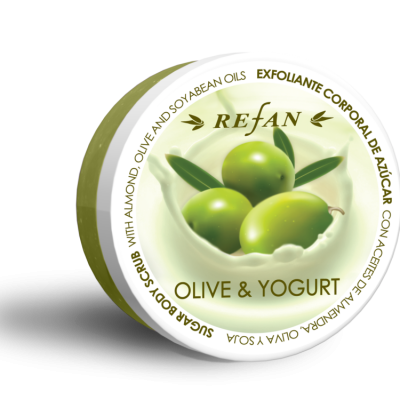 Refan Naturkosmetik Zuckerkörperpeeling Olive Joghurt