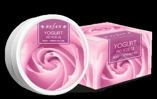 Refan Naturkosmetik Körperbuttercreme Joghurt und Ölrose