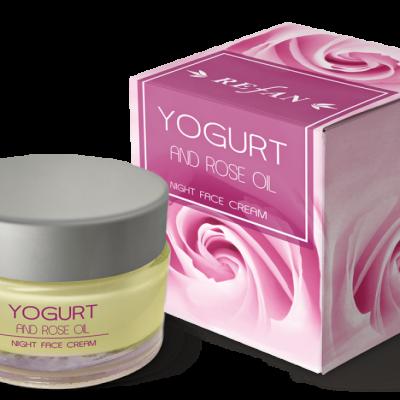 Refan Naturkosmetik Gesichtsnachtcreme Joghurt und Ölrose